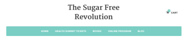 The Sugar Free Revolution Shopify store
